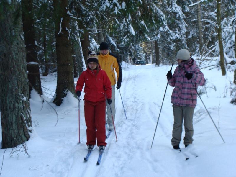 MTB na nartach – w słońcu i mrozie