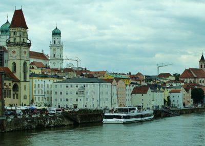 Passawa - Starówka od strony Dunaju